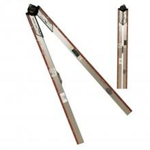 Nivela pliabila cu sistem de fixare pentru masurat unghiuri si lungimi
