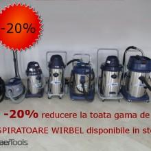 20% SUPERDISCOUNT la toata gama de ASPIRATOARE WIRBEL!